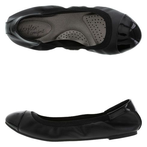 Best Sister Missionary Shoes out there! They are so comfortable and come in like 15 colors! They are amazing. Best part they are less than $30! Womens dexflex comfort Women's Claire Scrunch Flat