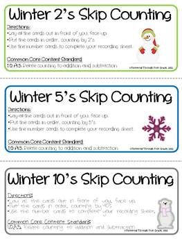 """""""Skipping Through Winter"""" - Skip Counting By 2's, 5's and 10's"""
