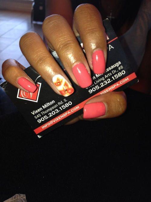 Shellac Manicure with nail art #VIXENSPA #nailart