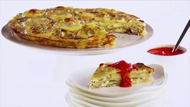 Get Spanish Potato Omelet Recipe from Food Network