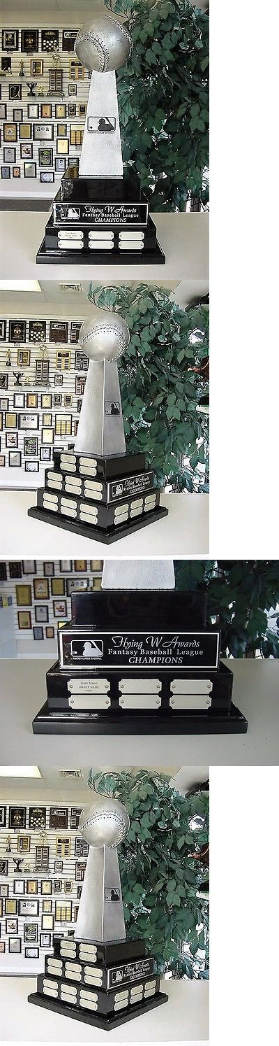 Other Baseball and Softball 181355: 3 Tier Large Fantasy Baseball Perpetual Award Trophy 38 Years Lombardi Cool! -> BUY IT NOW ONLY: $179.95 on eBay!