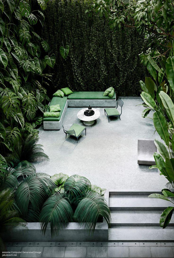 Beautiful Computer Generated Images II. Tropical Garden on Behance