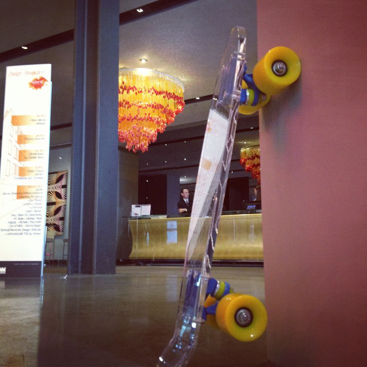 Skate air / skate in transparent plexiglass  as design + relov