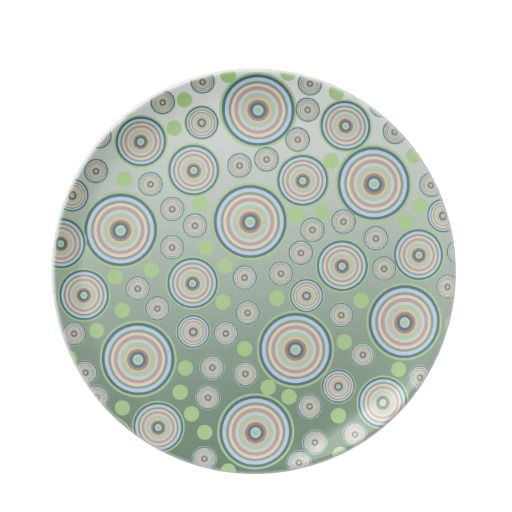 Abstract Circle Pattern Party Plates