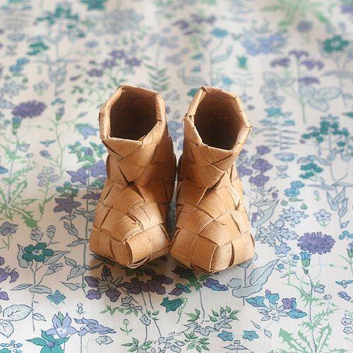 白樺のブーツ