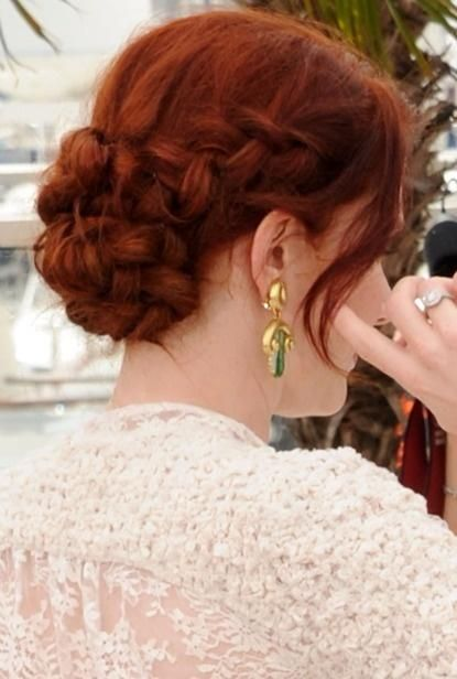 braided updo.... & that gorgeous color!