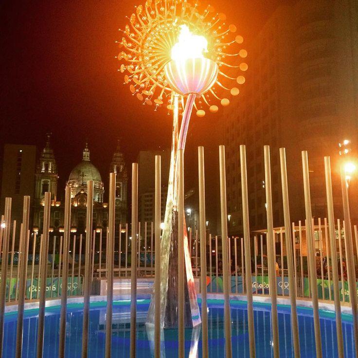 A pira olímpica ficou lindíssima no Boulevard Olímpico! #rio2016 #piraolimpica #olympics #olimpiadas