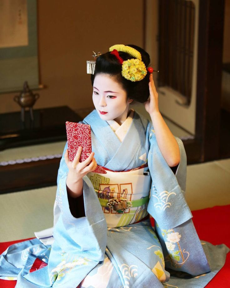A maiko (apprentice geisha) in Japan