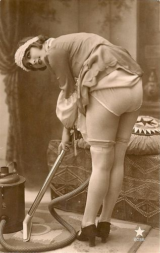 vintage erotica #flapper #stockings #vacuum