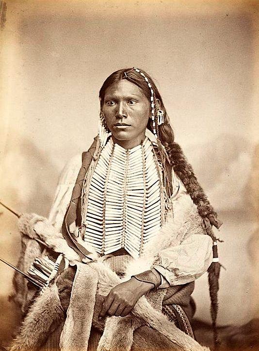 A Kiowa man. 1867. Photo by William S. Soule.