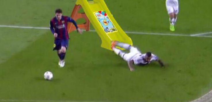 Détournement après le but de Messi face à Boateng. (via Twitter)