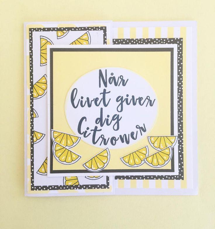 Kort: når livet giver dig citroner ... #threescoopsdk #håndlavet #anjaskort #handcrafted #handmade #handmadecards #handmadecard #anjaskort #cardmaking #scrapbooking #papirhobby #paperart #papercut #papercraft #papercrafting #stempler #clearstamps #paperdesign #papirdesign #personlighilsen  #chameleoncolortones #coloring #kortfremstilling #kort #diy #doityourself #kreativ