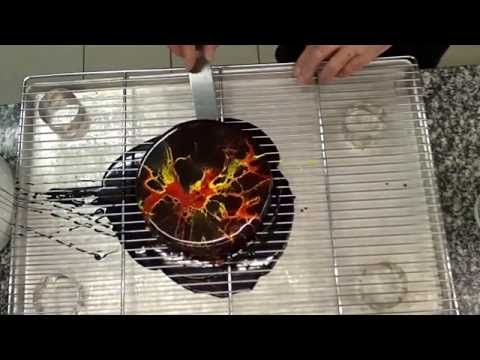 204 best images about vid os cuisine on pinterest for Glacage miroir caramel