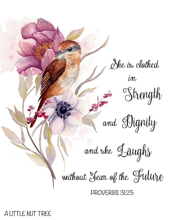 Bird Art Bible Verse Prints Watercolor Print Watercolor