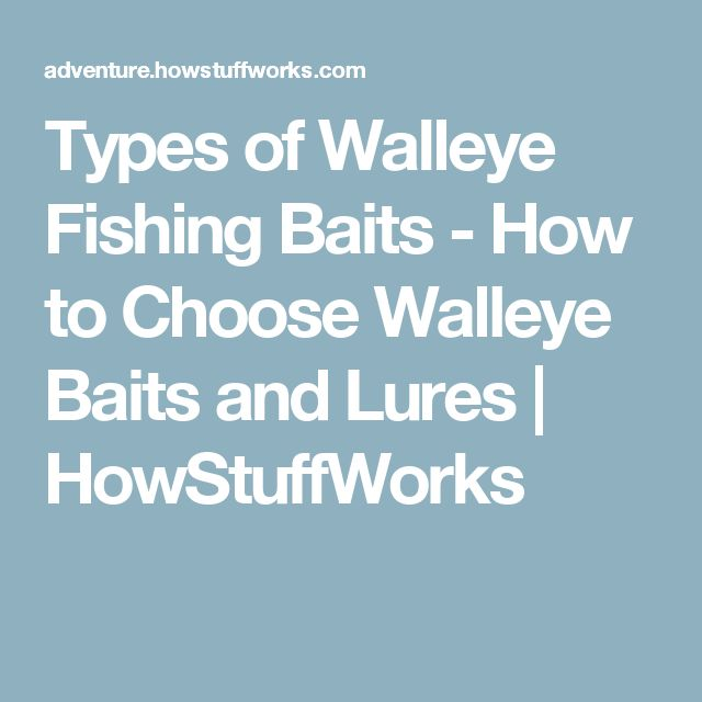 Types of Walleye Fishing Baits - How to Choose Walleye Baits and Lures | HowStuffWorks