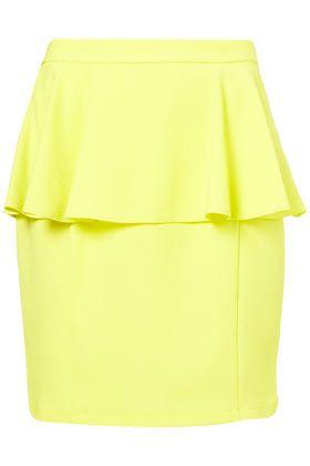 love peplum. love love loveNeon Trends, Fashion Models, Clothing, Yellow Skirts, Neon Skirts, Shopping Lists, Texture Peplum, Lemon Peplum, Peplum Skirts