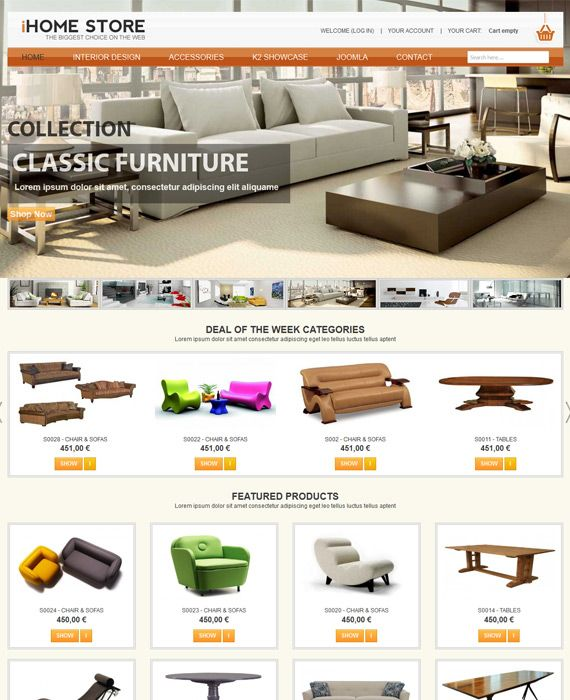 JV Furniture   Responsive Template For Furniture Store. Http://joomlavi.com