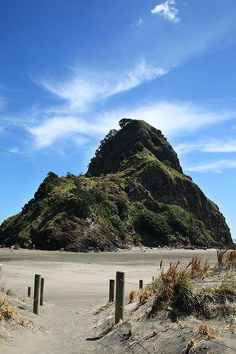 Lion Rock in Piha, NZ