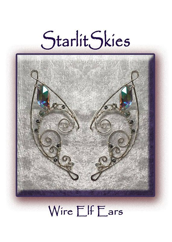 Our New Design, Wire Elf Ears Elf Ear Cuff 'Twirl Style' In Sterling, now on Etsy