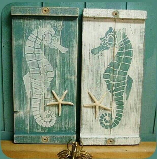Seahorse Home Decor Wall Art Coastal Decor By Seashoresecrets: 45 Best Seahorse Craft Images On Pinterest