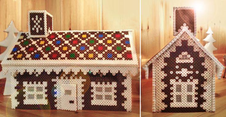 Gör som Jenny och bygg ett pepparkakshus av pärlplattor. Det är kul att göra och är lika fint att ta fram till nästa jul.