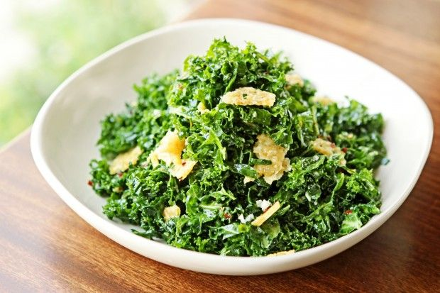 Kale Salad at Cleveland-Heath in Edwardsville (replace parmigiano cheese with sunflower seeds or favourite nuts + dried cranberries)