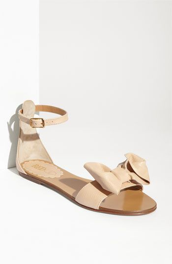 Flat Bow Sandal Nude
