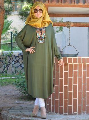 Tunique authentique - Kaki Vert - Henna Elisa
