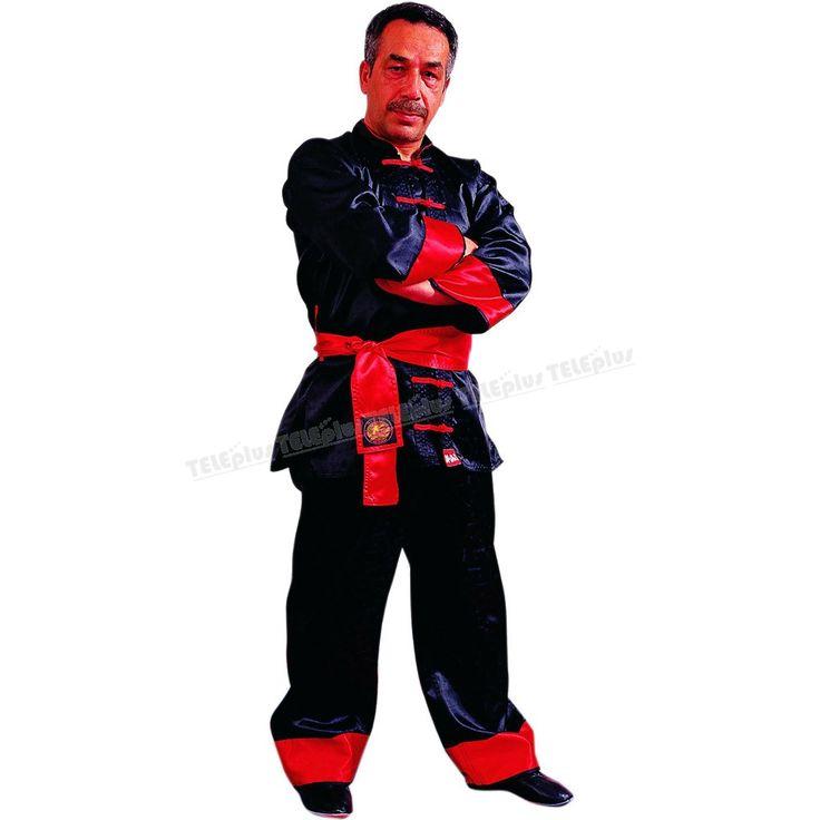 """Do-Smai Wushu Hoca Elbisesi VS-095 - 100 gr/m² siyah su tutmaz jakarlı satenden imal edilmiştir.  """"Hoca Elbisesi"""" beyaz bant ve düğmeler  150-190 arası 10 ar cm arayla 5 beden. - Price : TL109.00. Buy now at http://www.teleplus.com.tr/index.php/do-smai-wushu-hoca-elbisesi-vs-095.html"""