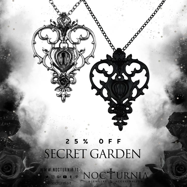 "Find the ""SECERT GARDEN"" necklace 25% OFF only in our shop! Click here http://bit.ly/secretgarden_necklace #nocturniait #blacksummersale"