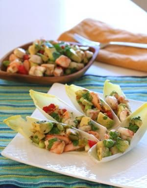 Awesome Endive Appetizer #Recipes, including Shrimp & Avocado Ceviche in Endive