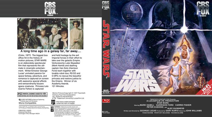 Star Wars Episode 4 Blu-ray Custom Cover