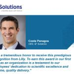 Q2 Solutions Receives 2016 Global Supplier Award from Eli Lilly and Company