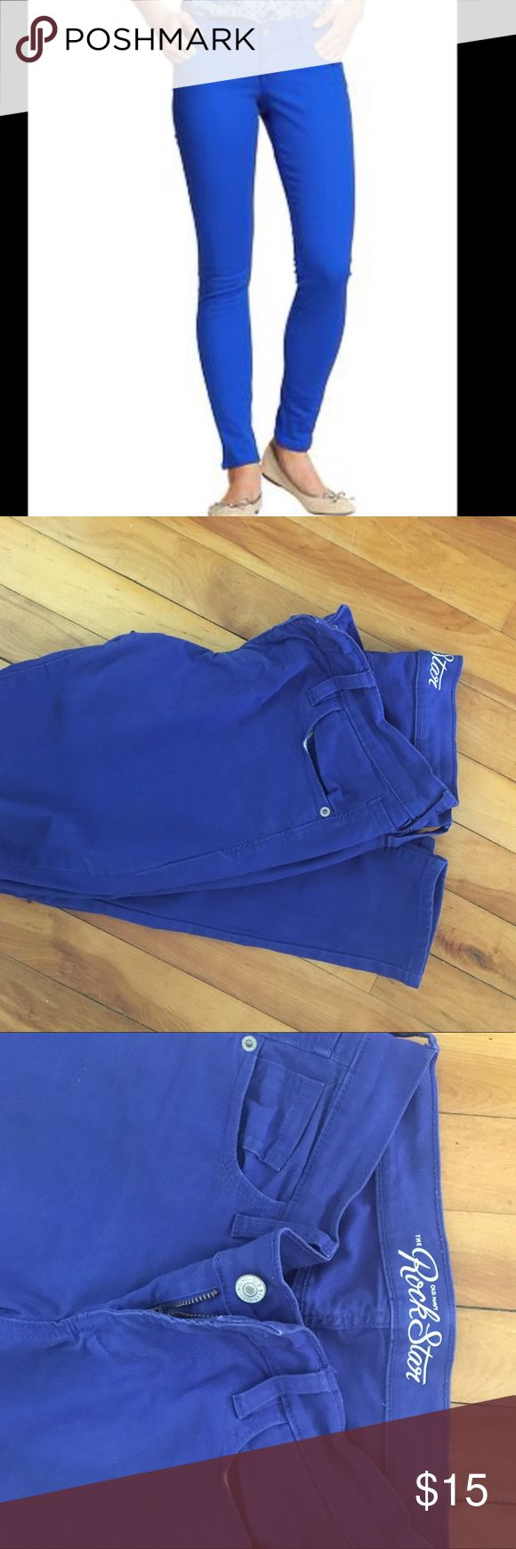 Rockstar cobalt jeans rockstar cobalt jeans- size 4 - good used condition- skinny jeans Old Navy Jeans Skinny