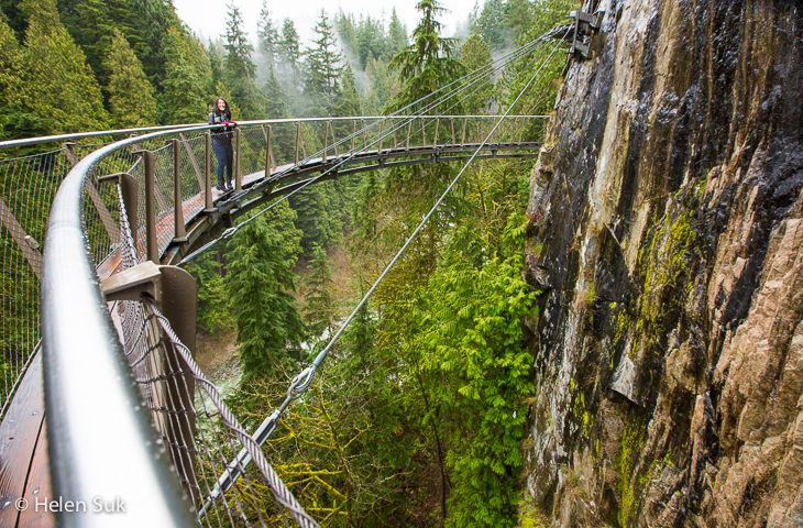 The Cliffwalk at the Capilano Suspension Bridge park is amazing! Find out what else to see and do in Vancouver, BC.