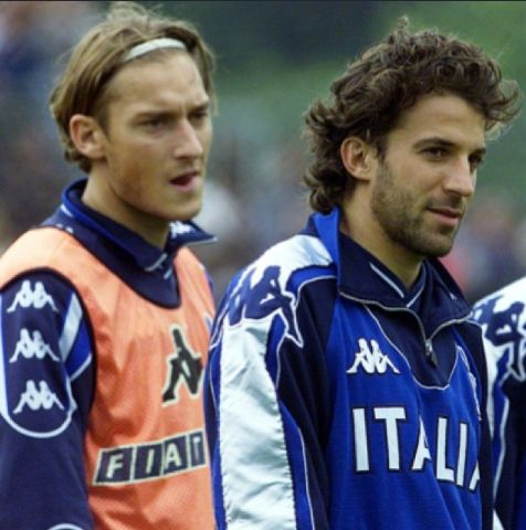 Totti and Del Piero Italy national football team true legends