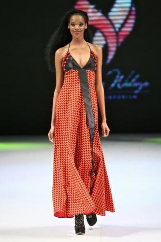 bongiwe walaza's red shweshwe maxi dress