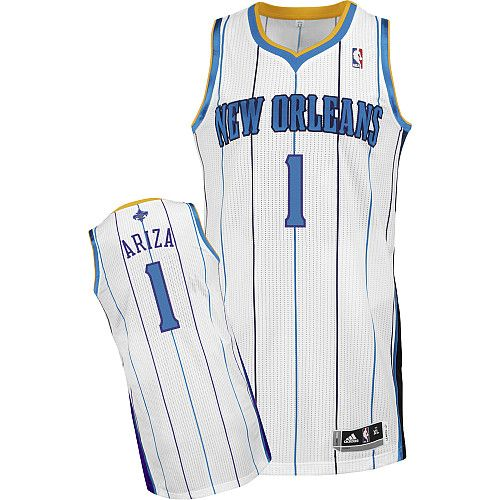 New Orleans Hornets Trevor Ariza 1 White Authentic Jersey Sale