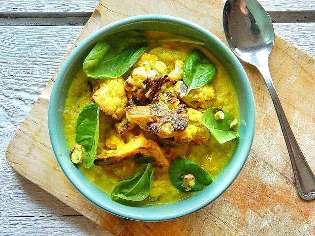 Sültkarfiol főzelék spenóttal