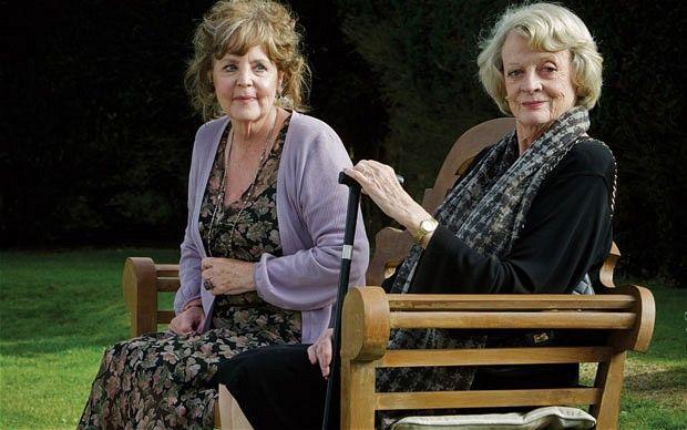 "Pauline Collins and Maggie Smith in ""Quartet""."