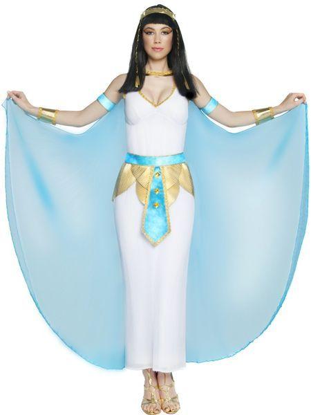 """Kleopatra naamiaisasu. Kleopatra (kr. Κλεοπάτρα) on alun alkaen kreikkalainen naisen nimi. Se tarkoittaa """"isän kunnia"""". Kleopatra oli monen Egyptiä hallinneen Ptolemaioksen hallitsijasuvun kuningattaren nimi, joista kuuluisin on Julius Caesarin rakastajatar Kleopatra VII. #naamiaismaailma"""