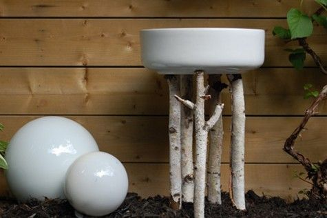 DIY Bird Baths... Free, $6, and $20 versions. One could get very creative with these basic starting points...