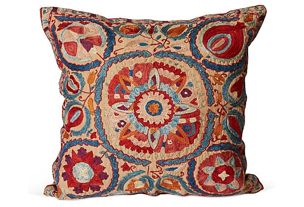Embroidered Suzani Pillow on OneKingsLane.com