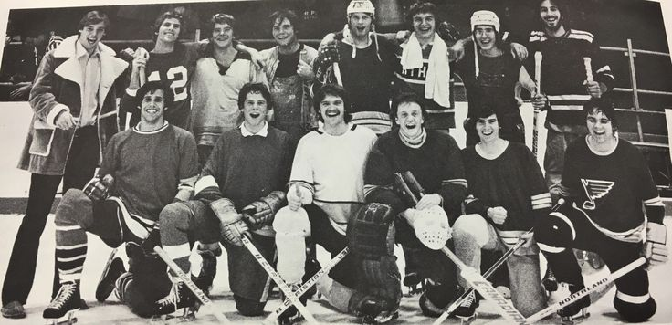 How happy does this intramural hockey team look? This is from 1980 and the team had just won the championship. From girls field hockey in 1922 to boys hockey in 1979, the excitement from the students seems to have never changed. 57 years may separate the pictures, but both of the teams look as happy as clams to be there. (Cropped Image, source, Miami Intramural Handbook 1980-1981, #MUArchives) #MiamiUniversity #sports