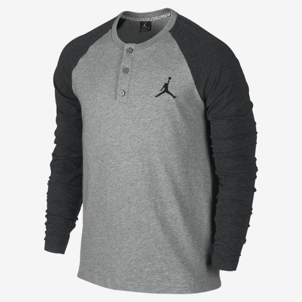 0fb83ac1f56ec5 Jordan Long-Sleeve Men s Henley Shirt