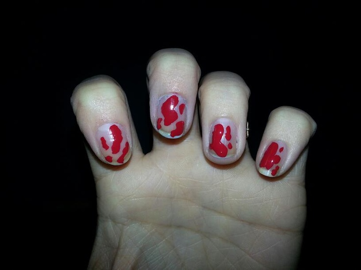 Fun Dexter inspired blood nails!  https://www.facebook.com/TrendyNailsByAmanda