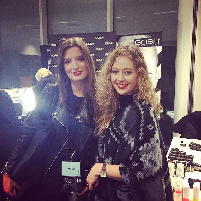 @klaraholm and @nordicbeautysecrets backstage at #kopenhagenfur #cphfw #aw15 #goshcosmetics