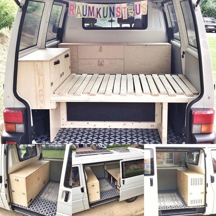 Lit convertible dans l'autre sens Camper Van camping