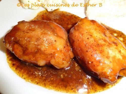 Hauts de cuisses de poulet au sirop d'érable et au vinaigre balsamique (mijoteuse) de Esther b