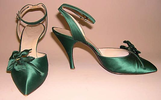 Sandals, Evening - House of Dior by Roger Vivier 1957-58
